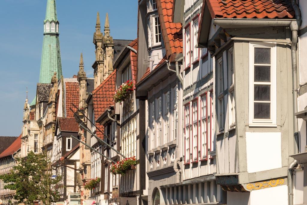 Fassaden in der Hamelner Altstadt